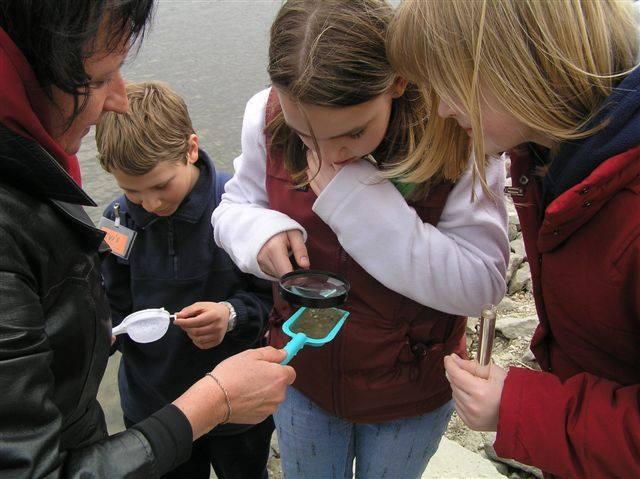 A Paksi zöldszíves találkozó vizvizsgálati terepgyakorlata a Duna parton