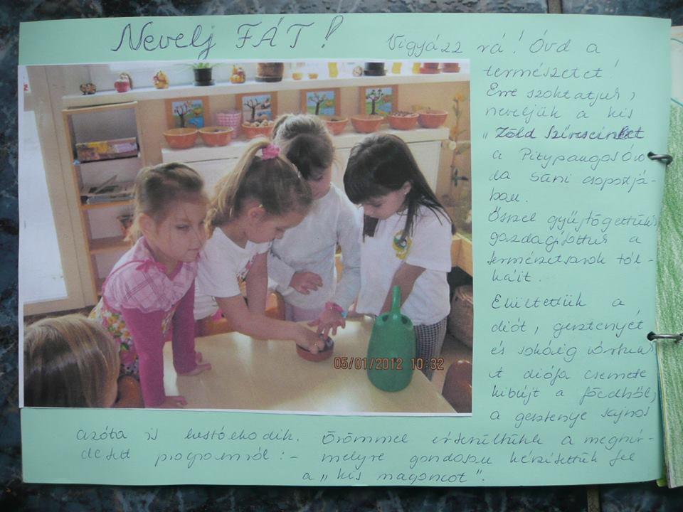A Százhalombattai Pitypangos Óvoda Zöldszívesei részt vettek a Nevelj Fát! projektben