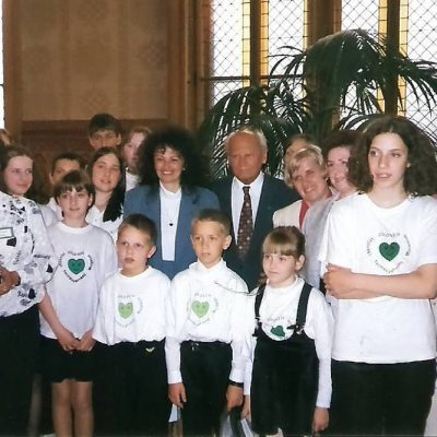 A X. Zöld Szív Országos Találkozó alkalmából Göncz Árpád köztársasági elnök is fogadta küldöttségünket az országházban