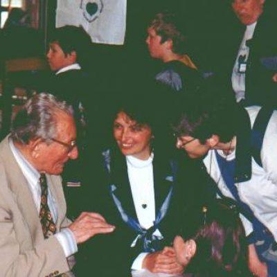 Balogh János professzor úr nyitotta meg a X. Zöld Szív Országos Találkozónkat Budapesten, 1999-ben