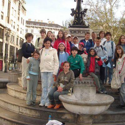 Zöldszívesek a budapesti Vörösmarty téren, a soroksári zöldszíves országos találkozó keretében, 2007.